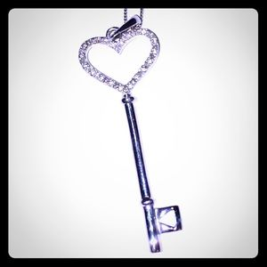 Jewelry - .925 Sterling Silver Key Pendant on SS Chain